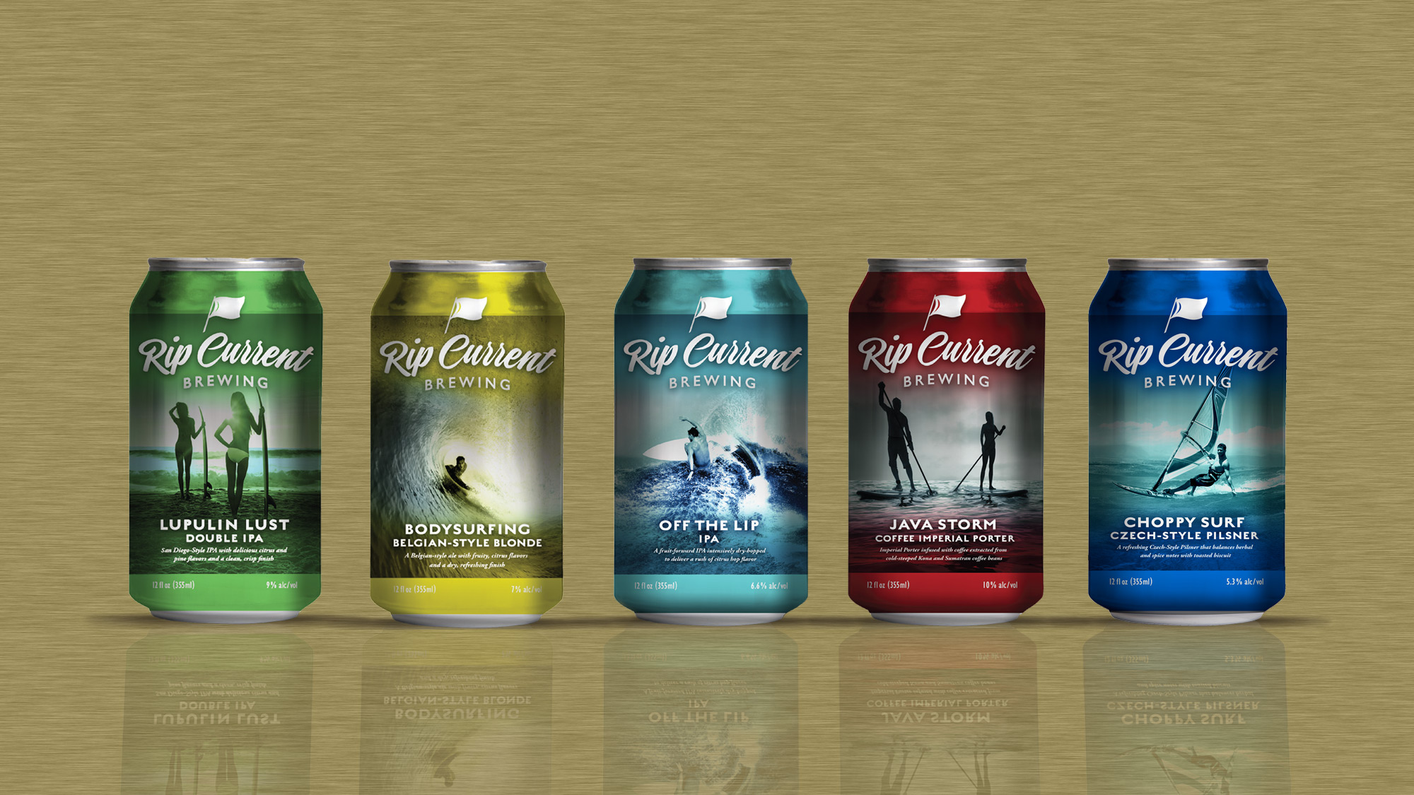 Rip CUrrent Brewing now in cans